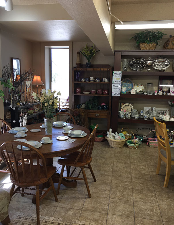 ... Furniture, Hardware, Linens, Books And Many Other Items (no Clothing)  But Also Provides Volunteer Opportunities For Our Local Senior Citizens.